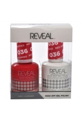 Reveal Professional - Gel & Lacquer - Red Poppies 036 - 15 mL / 0.5 oz
