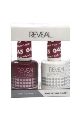 Reveal Professional - Gel & Lacquer - Raving Red 043 - 15 mL / 0.5 oz