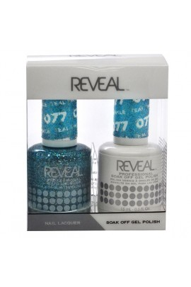 Reveal Professional - Gel & Lacquer - Teal Twinkle 077 - 15 mL / 0.5 oz