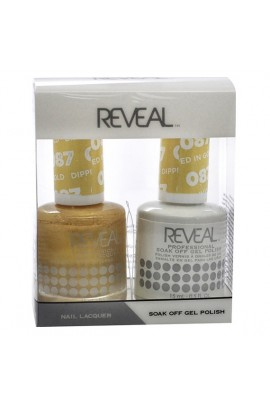 Reveal Professional - Gel & Lacquer - Dipped In Gold 087 - 15 mL / 0.5 oz