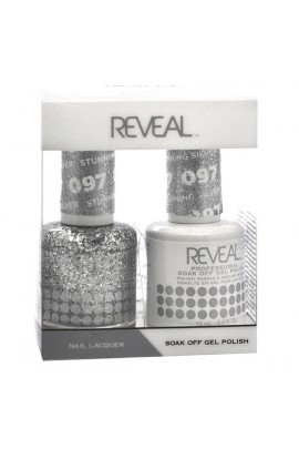 Reveal Professional - Gel & Lacquer - Stunning Silver 097 - 15 mL / 0.5 oz