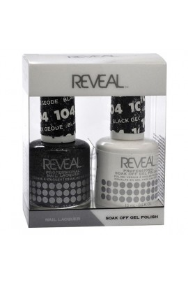 Reveal Professional - Gel & Lacquer - Black Geode 104 - 15 mL / 0.5 oz