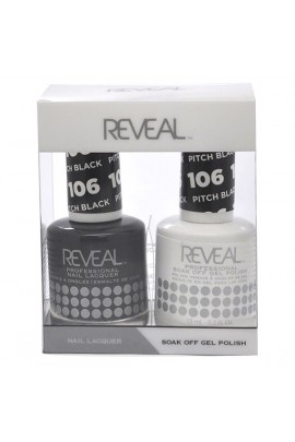 Reveal Professional - Gel & Lacquer - Pitch Black 106 - 15 mL / 0.5 oz