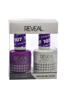 Reveal Professional - Gel & Lacquer - Vivid Violet 107 - 15 mL / 0.5 oz