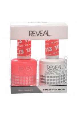 Reveal Professional - Gel & Lacquer - Wicked Coral 113 - 15 mL / 0.5 oz