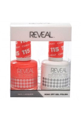 Reveal Professional - Gel & Lacquer - Coral Heat 115 - 15 mL / 0.5 oz