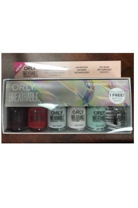 Orly Breathable Nail Lacquer - Treatment + Color - 6 Piece Kit # 2 - 0.6oz / 18ml Each