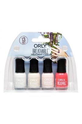 Orly Breathable Nail Lacquer - Treatment + Color - Mini 4pk Set #2 - 0.18oz / 5.3ml Each - 28909