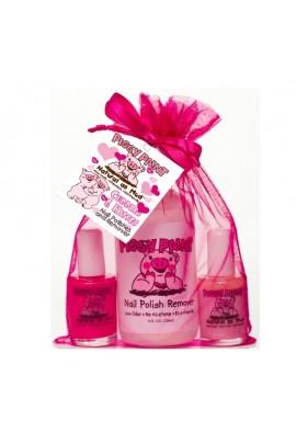 Piggy Paint - Cuddles and Kisses Gift Set - 2 Polish Set/1 Remover - 0.5 oz/15ml, 4oz/120ml