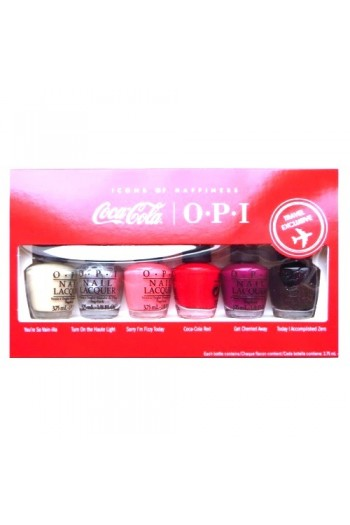 OPI Nail Lacquer - Coca-Cola Icons of Happiness - Mini 6pk - 3.75ml / 0.125oz Each