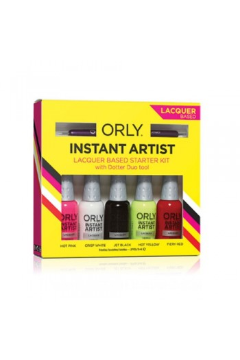 Orly Nail Lacquer - Instant Artist Starter Kit - 0.3oz / 9ml Each