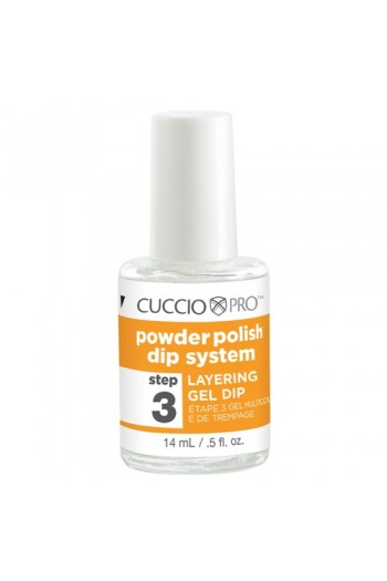 Cuccio Pro - Powder Polish Dip System - Step 3: Layering Gel Dip - 0.5oz / 14ml