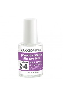 Cuccio Pro - Powder Polish Dip System - Step 2&4: Nail Base & Top Gel - 0.5oz / 14ml