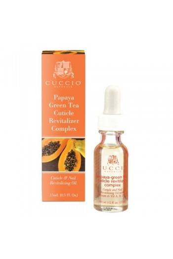 Cuccio Cuticle Revitalizer Complex - Papaya Green Tea - 0.5oz / 15ml