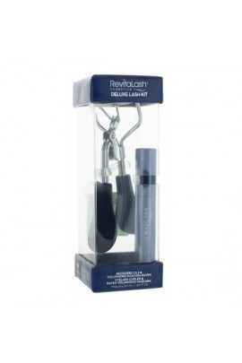 RevitaLash Cosmetics - Deluxe Lash Curler Kit - Eyelash Curler & Raven Volumizing Mascara 3.0 mL / .101 fl. oz
