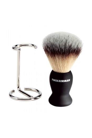 Tweezerman G.E.A.R Deluxe Shaving Brush with Stand