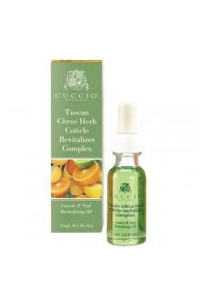 Cuccio Cuticle Revitalizer Complex - Tuscan Citrus Herb - 0.5oz / 15ml