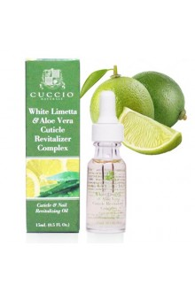 Cuccio Cuticle Revitalizer Complex - White Limetta & Aloe Vera - 0.5oz / 15ml