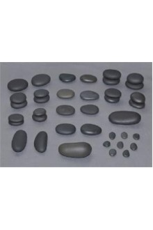 T.I.R. Basalt Portable Spa Stone Set - 38 Pieces