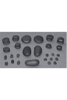 T.I.R. Basalt Facial Stone Set - 35 Pieces