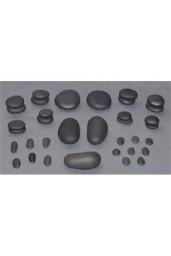 T.I.R. Basalt Facial Stone Set - 35 Pieces