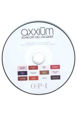 OPI Axxium Soak-Off Gel System Instructional DVD