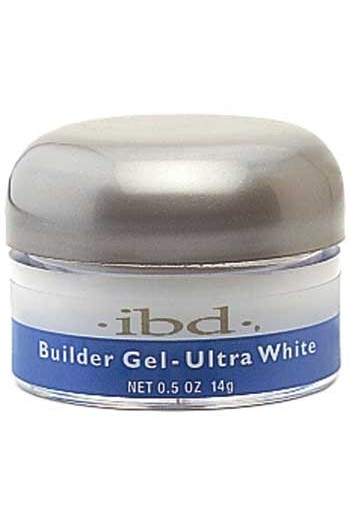 ibd UV Builder Gel - Ultra White - 0.5oz / 14g (Bright White)