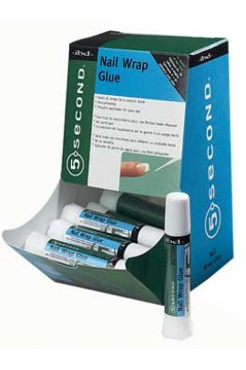ibd 5 Second Nail Wrap Glue - 12 Pack Display
