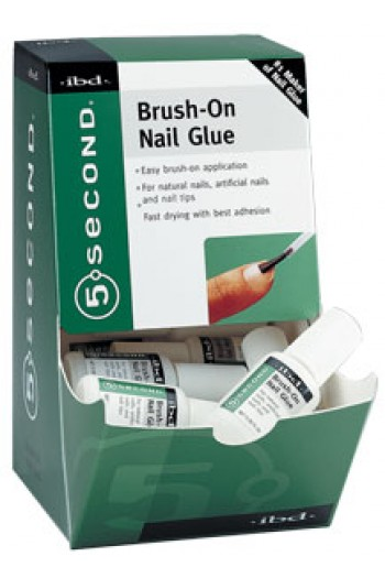 ibd 5 Second Brush-on Nail Glue - 12 Pack Display