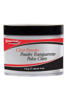 SuperNail Clear Acrylic Powder - 4oz / 113g