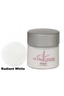 NSI Attraction Nail Powder: Radiant White - 1.42oz / 40g
