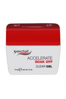 SuperNail Accelerate Soak Off Clear Gel - 0.5oz / 14g