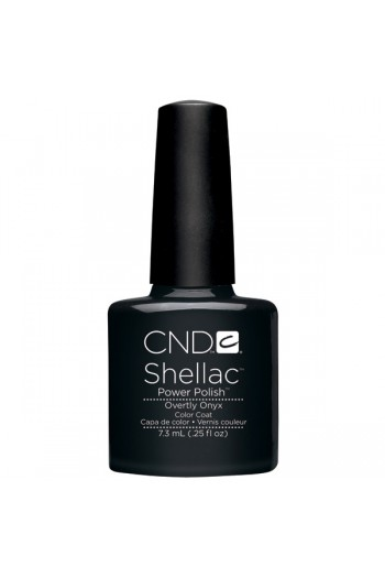 CND Shellac Power Polish - Overtly Onyx - 0.25oz / 7.3ml