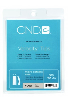CND Velocity Tips - Clear - 100ct