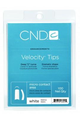 CND Velocity Tips - White - 100ct