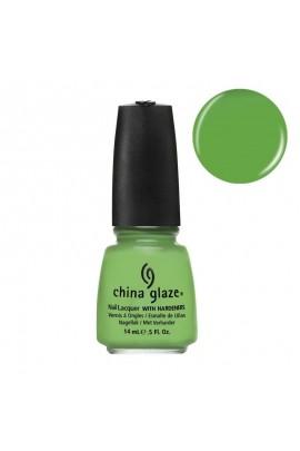 China Glaze Nail Polish - Electro Pop Collection - Gaga for Green - 0.5oz / 14ml