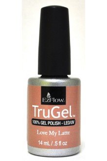 EzFlow TruGel LED/UV Gel Polish - Love My Latte - 0.5oz / 14ml