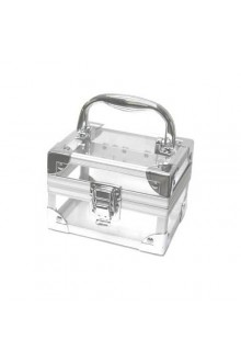 Small - Clear Acrylic & Brushed Aluminum Cosmetic Case