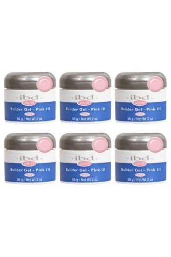 ibd LED/UV Builder Gel - Pink III - 6 pack - 2oz / 56g each