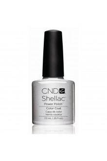 CND Shellac Power Polish - Silver Chrome - 0.25oz / 7.3ml