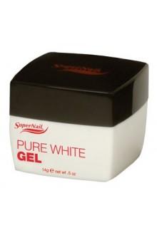 SuperNail Pure White Gel - 0.5oz / 14g