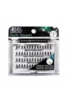 Ardell Soft Touch - Knot-Free Tapered Individual Eyelashes - Medium Black