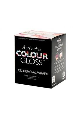 Artistic Soak Off Gel Removal Foil Wraps - 100ct
