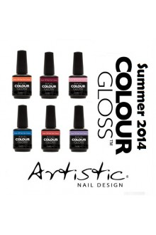 Artistic Colour Gloss - Summer 2014 Collection - 0.5oz / 15ml each -  All 6 Colors