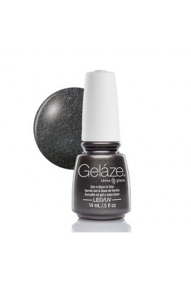 China Glaze Gelaze Gel Polish - Black Diamond - 0.5oz / 14ml