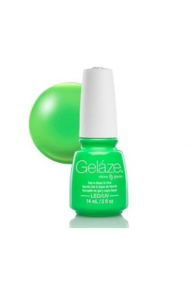 China Glaze Gelaze Gel Polish - In the Lime Light - 0.5oz / 14ml