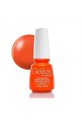 China Glaze Gelaze Gel Polish - Orange Knockout - 0.5oz / 14ml