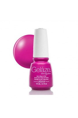 China Glaze Gelaze Gel Polish - Purple Panic - 0.5oz / 14ml