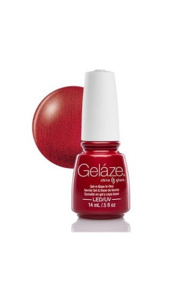 China Glaze Gelaze Gel Polish - Red Pearl - 0.5oz / 14ml
