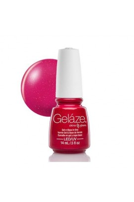China Glaze Gelaze Gel Polish - Strawberry Fields - 0.5oz / 14ml